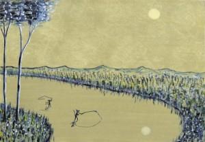 <span> Fishing</span><p> 2001年制作</p><p> 約20cm×16cm(水彩+水彩紙)</p>