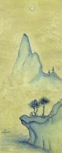 <span> 満月の下</span><p> 2002年制作</p><p> 約25cm×10cm(水彩+水彩紙)</p>